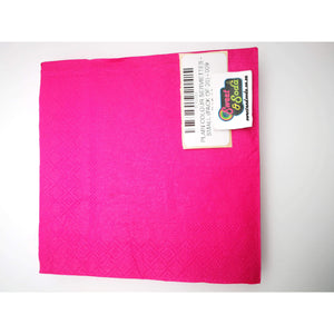 PLAIN COLOUR SERVIETTES - SMALL (PACK OF 20) - 009