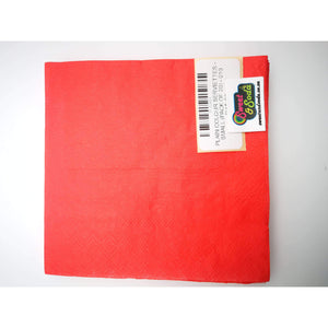 PLAIN COLOUR SERVIETTES - SMALL (PACK OF 20) - 010