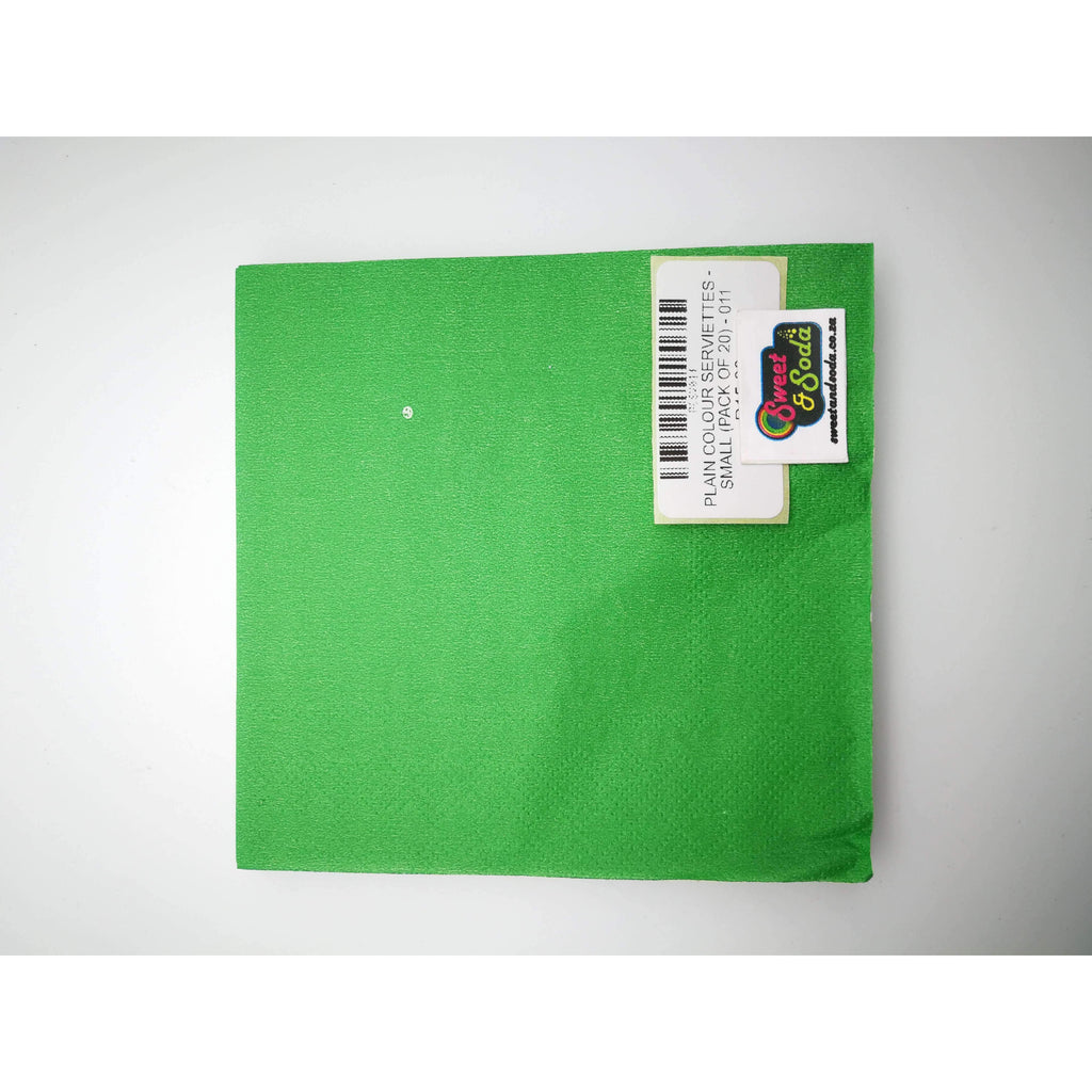 PLAIN COLOUR SERVIETTES - SMALL (PACK OF 20) - 011