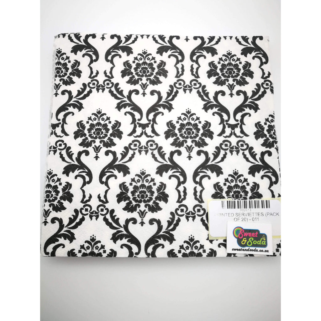 PRINTED SERVIETTES (PACK OF 20) - 011