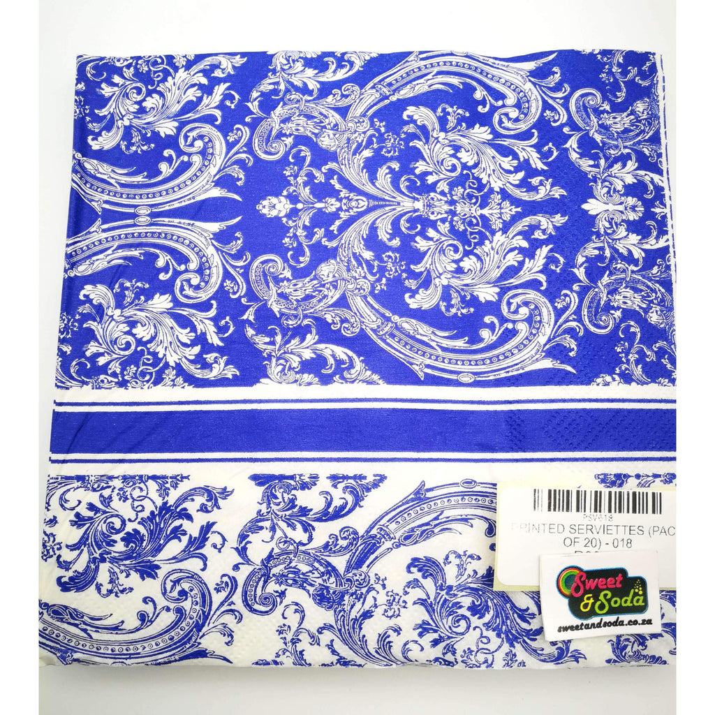 PRINTED SERVIETTES (PACK OF 20) - 018