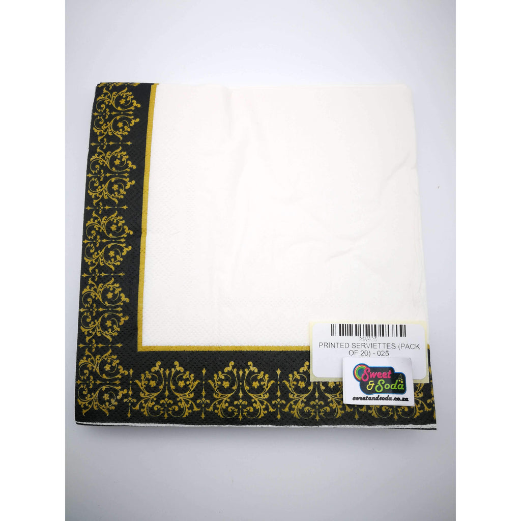 PRINTED SERVIETTES (PACK OF 20) - 025