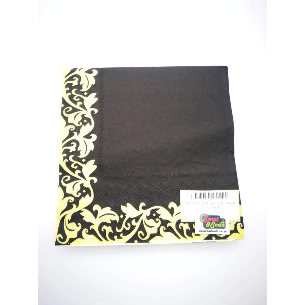 PRINTED SERVIETTES (PACK OF 20) - 030