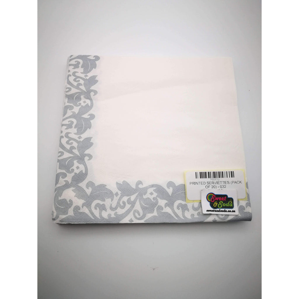 PRINTED SERVIETTES (PACK OF 20) - 032