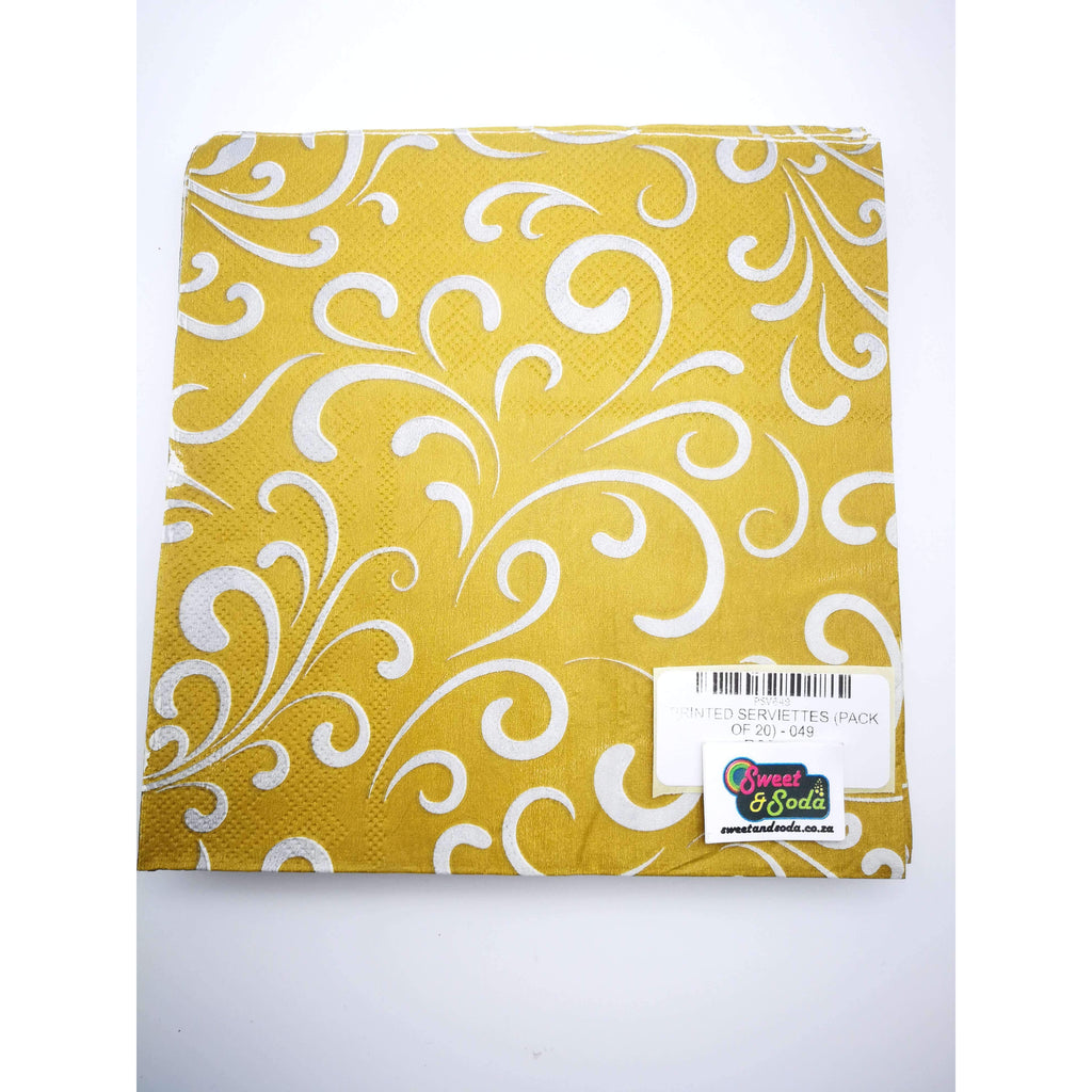 PRINTED SERVIETTES (PACK OF 20) - 049