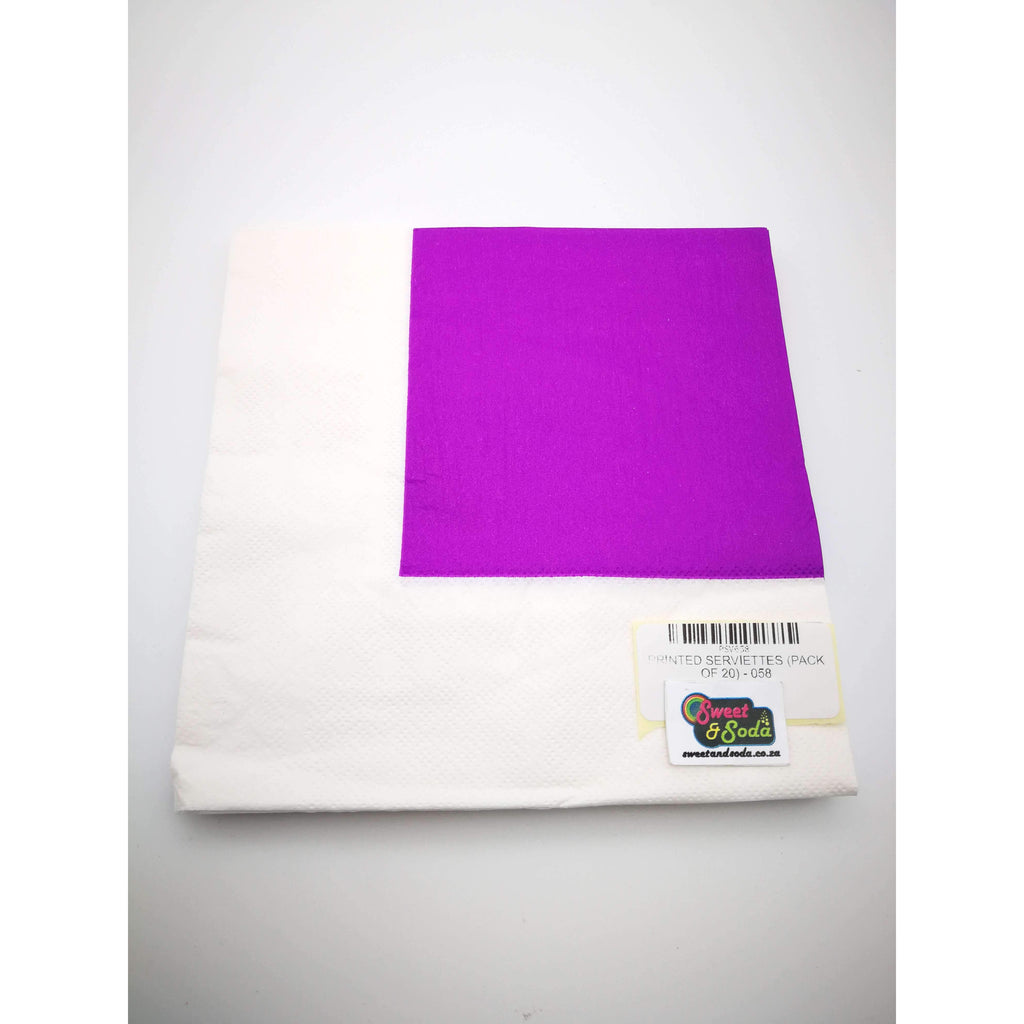 PRINTED SERVIETTES (PACK OF 20) - 058