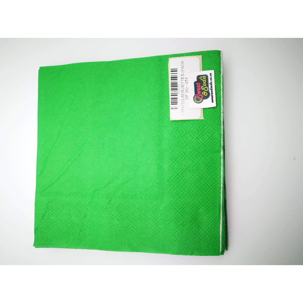 PRINTED SERVIETTES (PACK OF 20) - 074