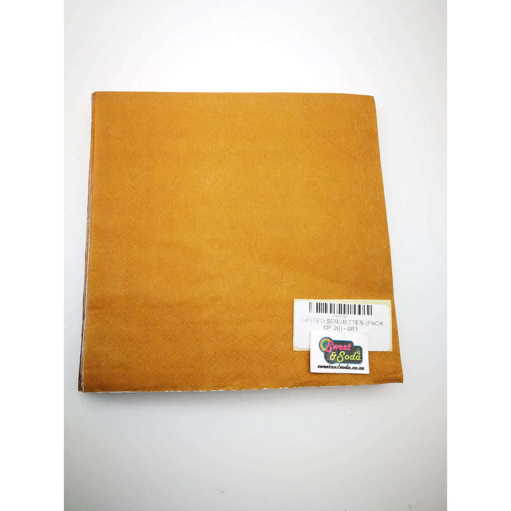 PRINTED SERVIETTES (PACK OF 20) - 083
