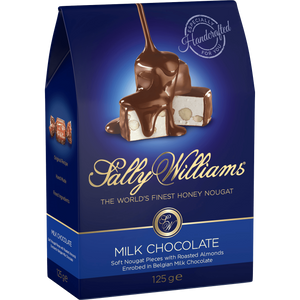 SALLY WILLIAMS 125g MILK CHOC NOUGAT