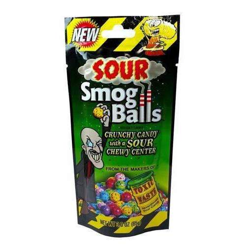 TOXIC WASTE SOUR SMOG BALLS BAG 85g