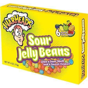 Warheads Sour Jelly Beans 113g Box