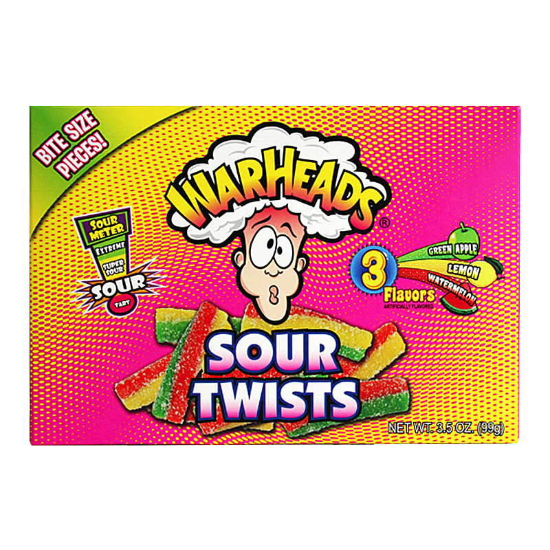 Warheads Sour Twists 99g Box