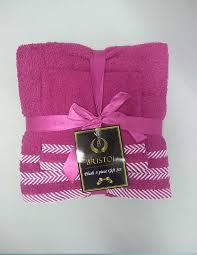 Bristol 3pc Gift Towel Set Fuchsia