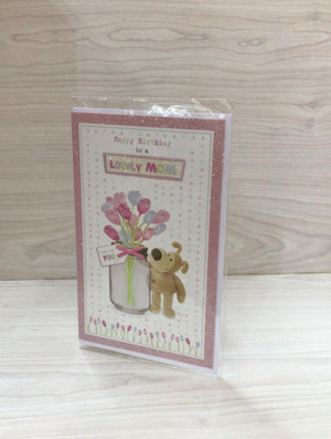 Happy Birthday To A Lovely Mom Greeting Card ECE0391