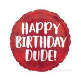 Foil Balloon Happy Birthday Dude 43cm 39623
