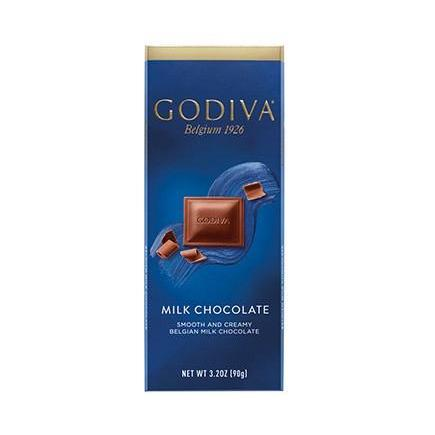 GODIVA 90g SLAB - MILK CHOCOLATE