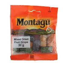 Montagu Mixed Dried Fruit Drops 50g