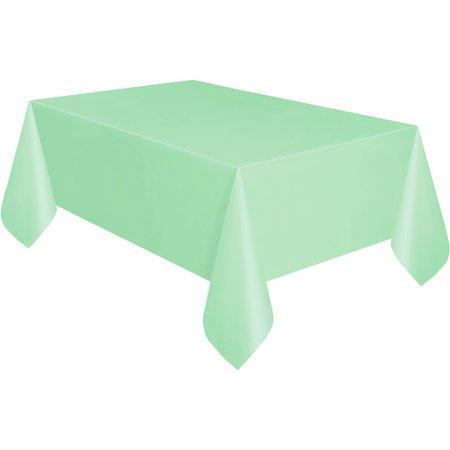 PARTY TABLE COVER MINT GREEN