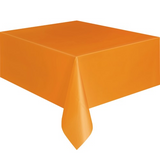 PARTY TABLE COVER ORANGE