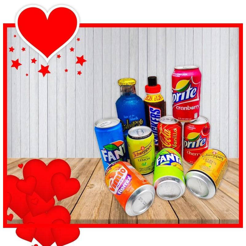 VALENTINES SOFT DRINKS LOVER GIFT
