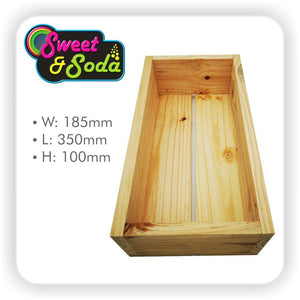Wooden Gift Crate 185mm x 350mm x 100mm