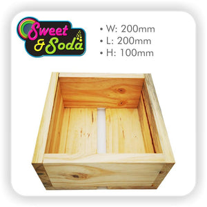 Wooden Gift Crate 200mm x 200mm x 100mm