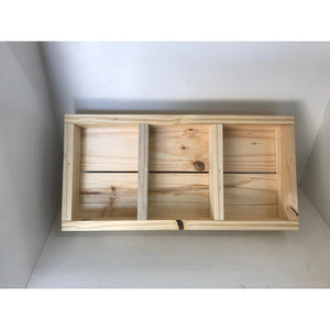Wooden Gift Crate 3 Division 185mm x 300mm x 50mm