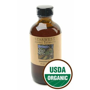 Organic Chamomile Flower Extract 4 fl oz
