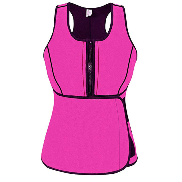 Neoprene Sweat Vest with Adjustable Waist Trimmer Belt