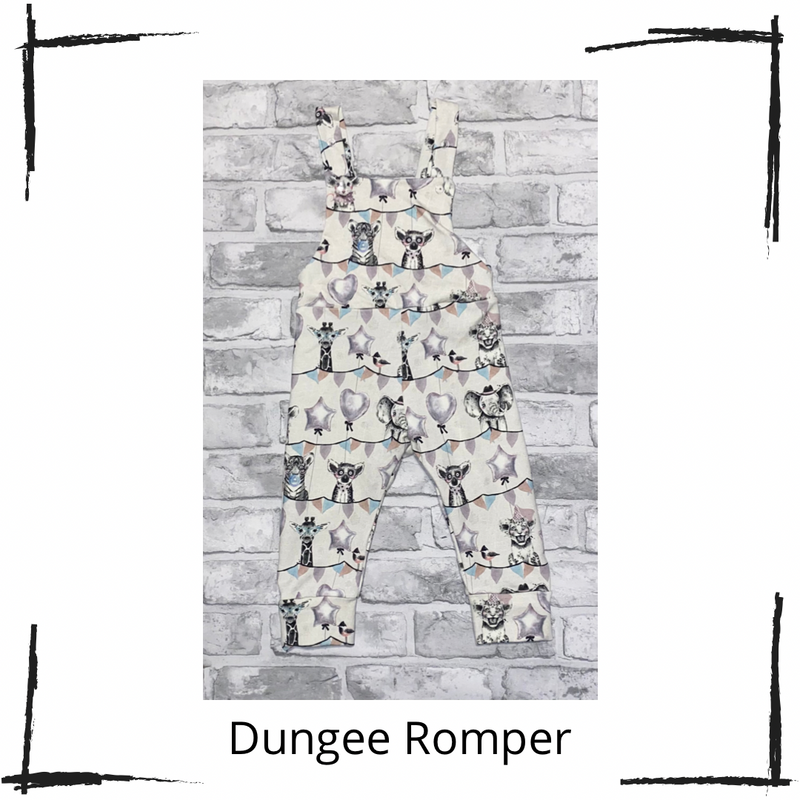 Circus Party Animals  Long Rompers