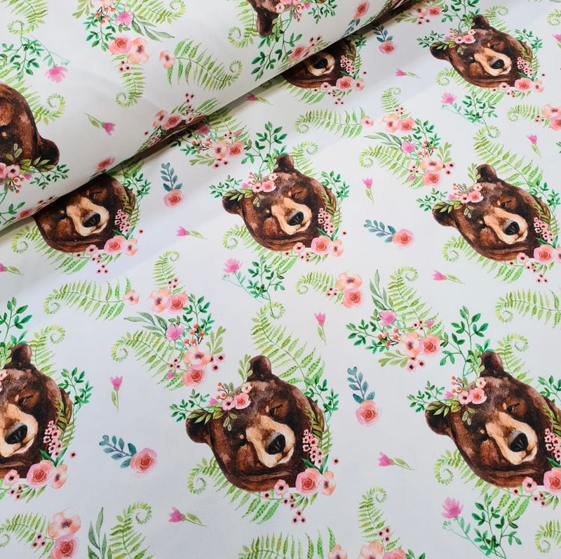Floral Bears Long Rompers