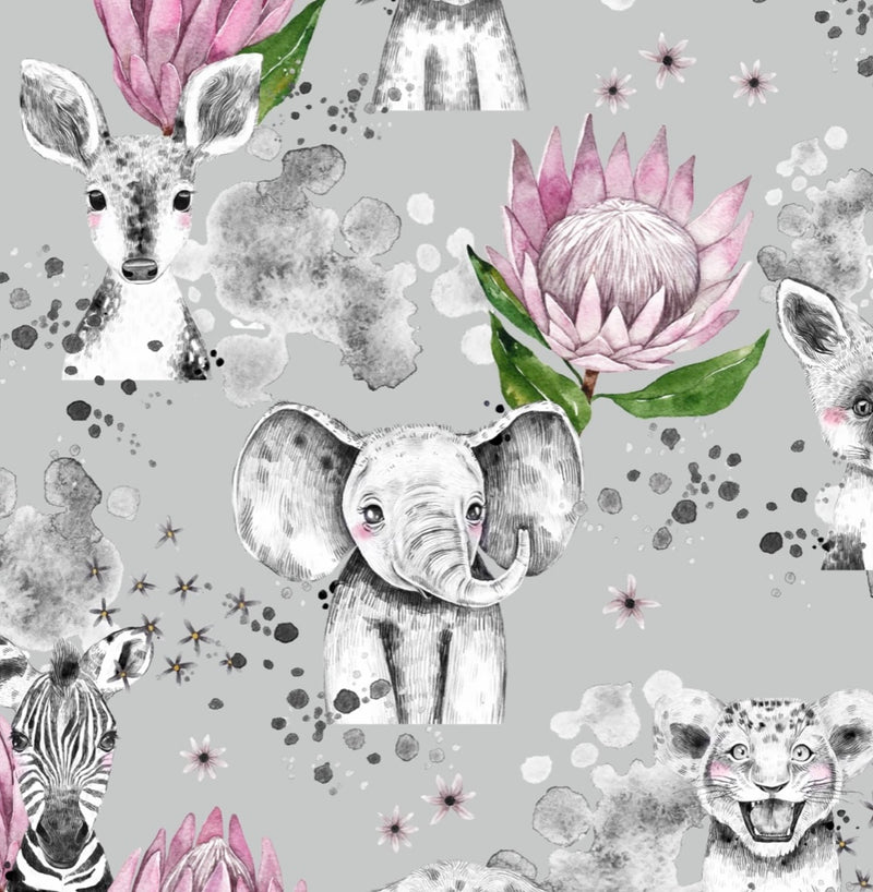 Floral Safari Animals T-Shirts