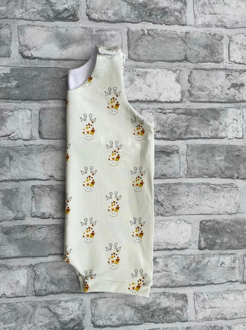 Splatted Giraffe Short Rompers