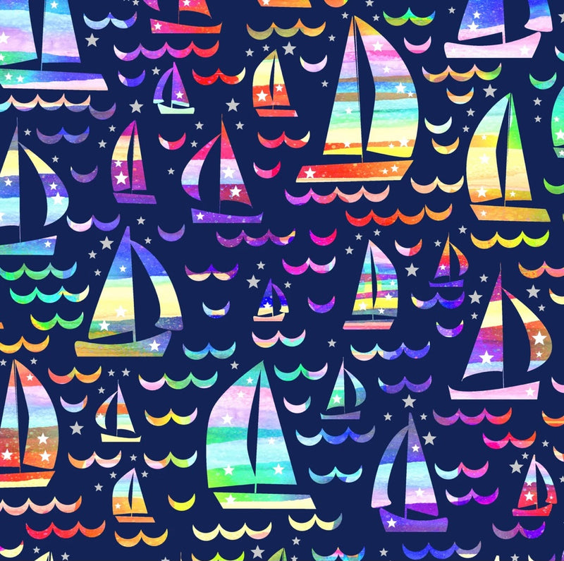 Rainbow Sail Boats Hoodies