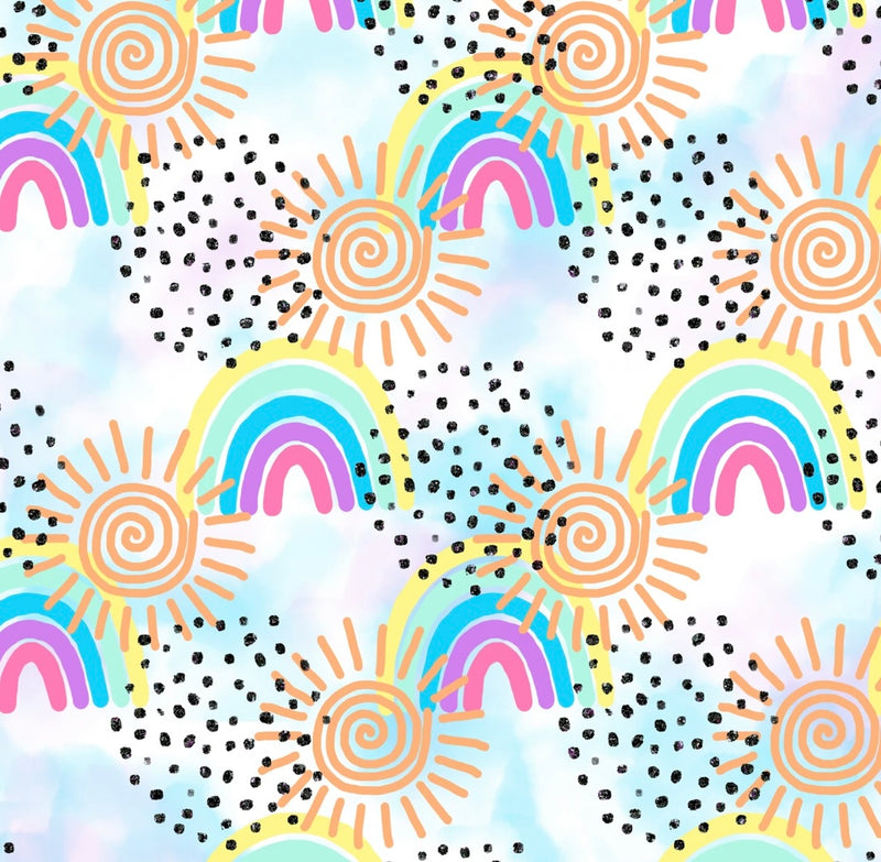 Rainbows & Sunshines Off Shoulder PlaySuit