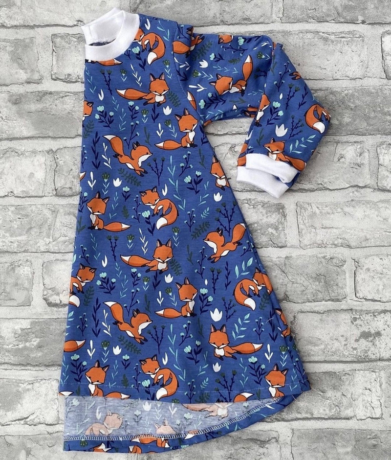 Blue Foxes Long Sleeve Dresses