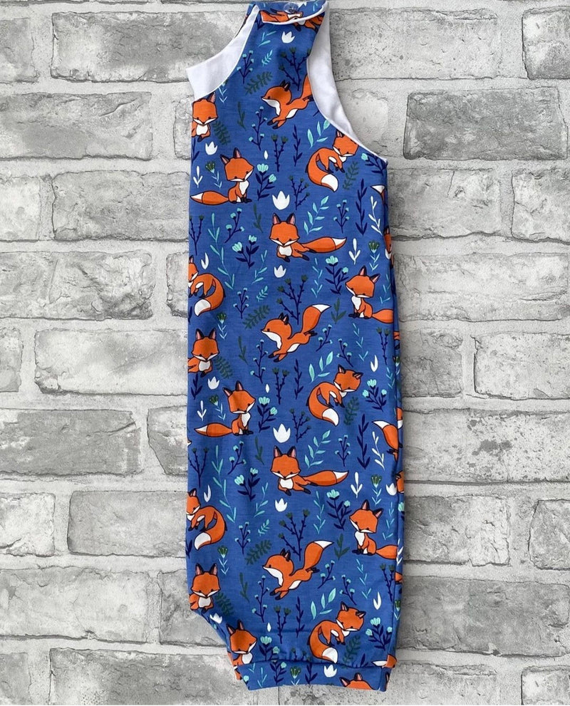 Blue Foxes Rompers