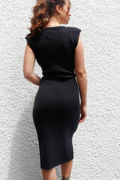 Roi Knit Dress - Negro