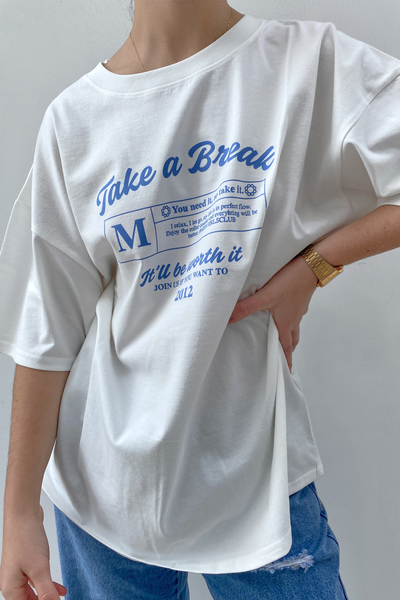 Take a Break T- Shirt - Blanco