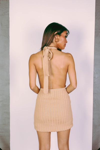 Remy Knit Dress - camel