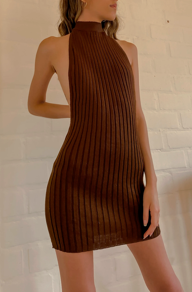 Remy Knit Dress - brown