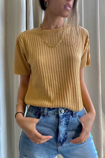 Sols Knit Top - Camel