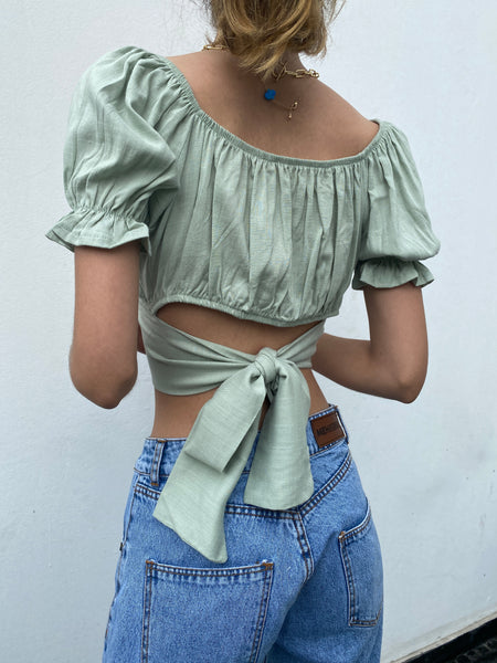 Villa Blouse - Mint
