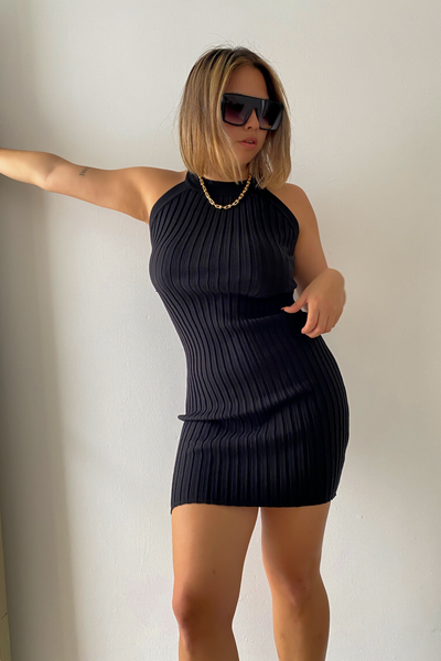 Riri Knit Dress - Negro