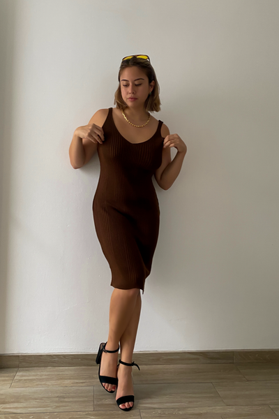 Viky Knit Dress - Marron