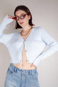 Olinda knit sweater - baby blue