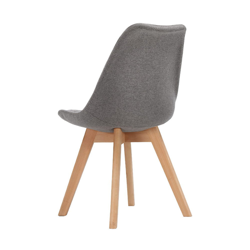 Replica Eames DSW Side Chair Set of 2 Fabric - Light Grey | Superior Seating | Premium Office Chairs, Lounge Chairs, Dining Chairs, Gaming Chairs, Bar Stools and Massage Chairs