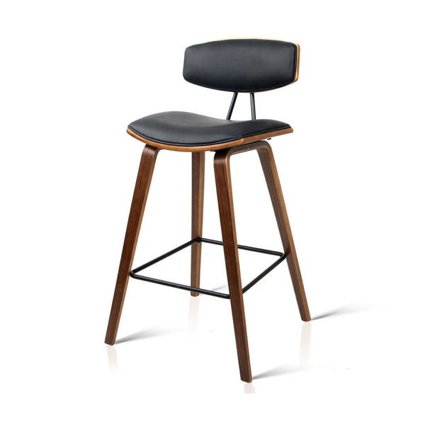 Artiss Set of 2 PU Leather Bar Stools - Black | Superior Seating | Premium Office Chairs, Lounge Chairs, Dining Chairs, Gaming Chairs, Bar Stools and Massage Chairs
