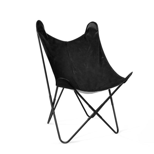 PU Leather Butterfly Chair - Black