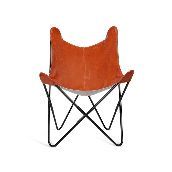 PU Leather Butterfly Chair - Brown